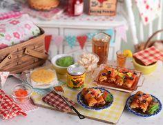 Miniature Making Chicken Enchiladas Set