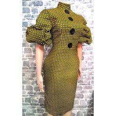 Ankara Dress, Button Dress, Fashion Dresses, High Neck Dress, Big, Summer, Outfits, Fashion Show Dresses, Turtleneck Dress