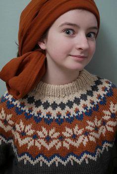 afmaeli icelandic lopi sweater (fonty wool)