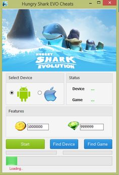 Hungry Shark Evolution hack cheat - unlimited coins and gems