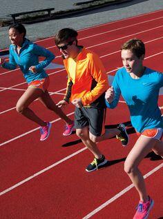 Track Stars Shiona Turini, Andrew Bevan, and Laurel Pantin in Brooklyn. Head-to-toe Nike.