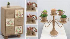 Jute Crafts, Space Saving, Reuse, Decorative Boxes, The Creator, Home Decor, Jute, Decoration Home, Room Decor