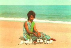 Somali woman at the beach