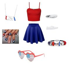 """""""4 th of July"""" by leylajune on Polyvore featuring WearAll, Vans, Bling Jewelry and Full Tilt"""