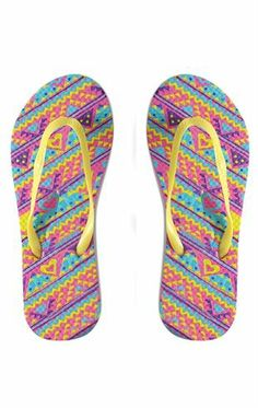 Deb Shops Flip Flops with Tribal Pattern $3.75
