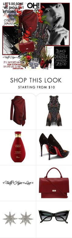 """""""You are  galaxies....."""" by purplecherryblossom ❤ liked on Polyvore featuring Kane, Mary Katrantzou, Christian Louboutin, Givenchy and Bee Goddess"""