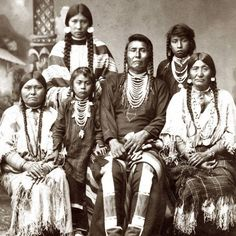 Hin-ma-toe Ya-lut-kiht (aka Thunder Coming Over The Mountain, aka Joseph II, aka Chief Joseph) and his family – Nez Perce – circa 1880