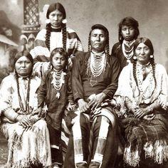 Hin-ma-toe Ya-lut-kiht (aka Thunder Coming Over The Mountain, aka Joseph II, aka Chief Joseph) and his family – Nez Perce – circa 1880