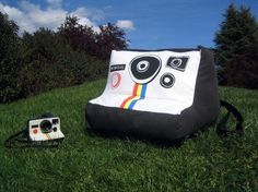 Plush Polaroid Camera Chair