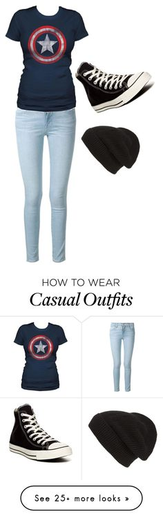 """Casual Superhero"" by explorer-14460088449 on Polyvore featuring Frame Denim, Converse and Phase 3"