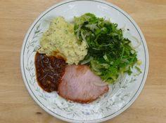 Pork with mustard mash
