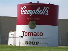 Water tower at Campbell's Soup Factory, OH
