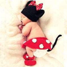 >> Click to Buy << Cartoon Mouse Hat+Trousers+Skirt+Shoes Set Handmade Infant Baby Costume Knitted Beanies Newborn Photography Prop Crochet #Affiliate