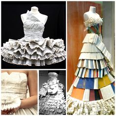 """""""Everybody's talking about the red carpet hits and misses at last night's Academy Awards, but we're more inspired by these clever gowns made entirely of books!"""""""