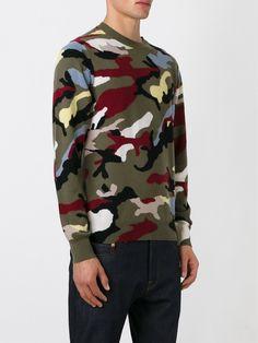 Valentino 'rockstud' Camouflage Sweater - Twist'n'scout - Farfetch.com