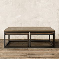 Palmer Nesting Coffee Table Set in Natural Oak 53.5 x30 $999 comes in brown