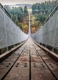 Geierlay Bridge by İlhan Eroglu Photographer's Facebook | Instagram