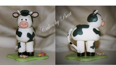 Farm Animals 1st Birthday - Close up picture of the cow that was on 1st B-day cake uploaded earlier  Made from gum paste.