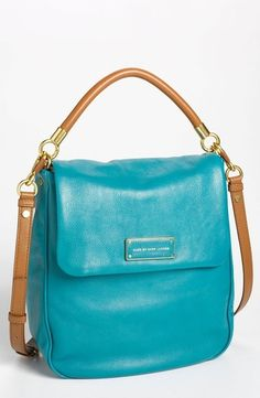 MARC BY MARC JACOBS 'Too Hot to Handle - Laetitia' Leather Hobo Deep Teal Multi in May 2013 Vacation Nation from Nordstrom on shop.CatalogSpree.com, my personal digital mall.
