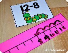 Using an open number line. It would work well with positive and negative numbers! Math Classroom, Kindergarten Math, Teaching Math, Math 2, Math Resources, Math Activities, Math Coach, Math Measurement, Math Addition