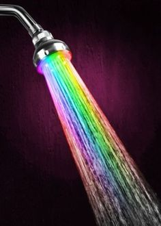 LED color changing shower head  who knew showers could be so fun!?