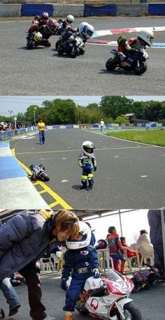 Love the tiny bikers and their bikes! :)
