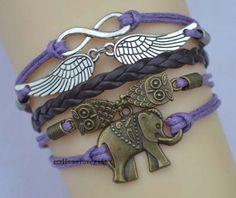 Wings of infinity bracelets bracelets owl by endlesslovegift, $6.35