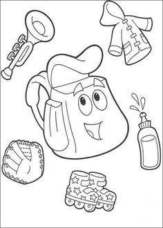 Dora the Explorer Malvorlagen für Kinder 163 Online Coloring Pages, Cute Coloring Pages, Printable Coloring Pages, Coloring Books, Dora Coloring, Coloring Pages For Kids, Kids Colouring, Dora The Explorer