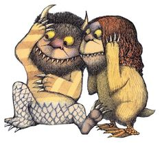 ¤ Les maximonstres. by Maurice Sendak click to enlarge !