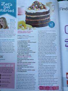 Triple-choc Nutella celebration cake (Coles magazine March 2016)