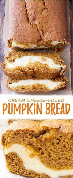 Cream Cheese Filled Pumpkin Bread - This delicious and moist pumpkin bread has a yummy cream cheese filling. It's so good and so, so pretty!