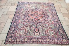 Antique Persian Kerman #Rugs from Old New House #antiquerugs #homedecor