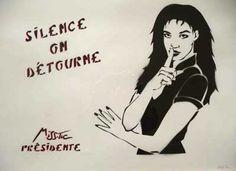 Miss.Tic Land Art, Street Artists, Stencils, Public, Quote, Image, Street Graffiti, Street Art, Stencil