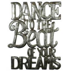 Dance to the Beat Metal Wall Art