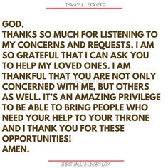 Here's a great batch of 30 thankful prayers for you. We are given so much, often times we focus on what we don't have or what we want, instead of being thankful for all that we have. These 30 short prayers will help you foster a thankful heart. Thank You Lord For Answered Prayers, Thankful Prayers, Prayers Of Gratitude, Short Prayers, Thankful Heart, Gratitude Quotes, Thankful For You Quotes, Positive Quotes, Prayer Of Praise