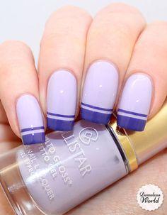 Collistar - Iris Delicata.  Double French tip nail art.