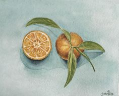 A personal favorite from my Etsy shop https://www.etsy.com/listing/570331059/watercolor-kitchen-decororange-mandarin