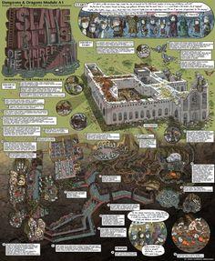 Hand-drawn D&D adventuremaps