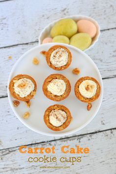 Carrot Cake Cookie Cups are a sweet Easter dessert! These little cuties are delicious and perfect for serving to Easter guests.