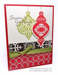 Handmade Christmas Card  Stampin Up by CardCreationsbyBeth on Etsy