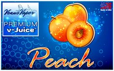 Amazing taste of juicy peaches! Our V-juice is 100% made in USA.