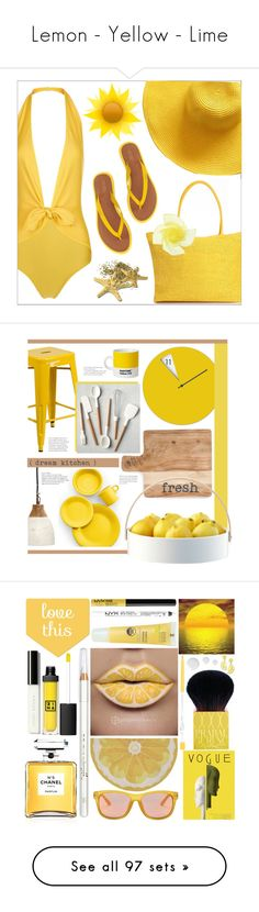"""""""Lemon - Yellow - Lime"""" by yours-styling-best-friend ❤ liked on Polyvore featuring ADRIANA DEGREAS, Lauren Ralph Lauren, beachday, interior, interiors, interior design, home, home decor, interior decorating and Holly's House"""
