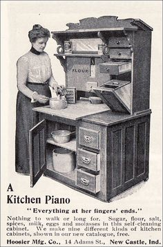 1901 Hoosier Cabinet - A Kitchen Piano by American Vintage Home, via Flickr