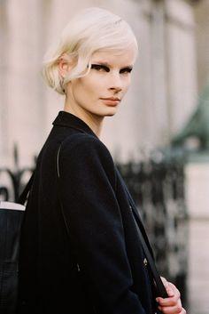 Vanessa Jackman: Paris Fashion Week AW 2014....Irene platinum icy blonde