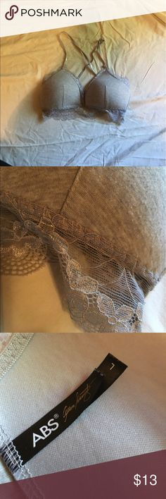 ABS bralette Grey lace, longline bralette. Perfect to wear underneath tops or wear with high waisted shorts. No imperfections. ABS Allen Schwartz Intimates & Sleepwear Bras