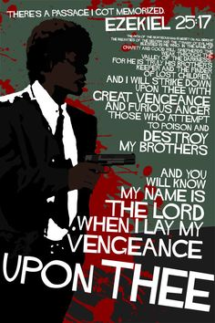 Pulp Fiction - Ezekiel 25:17 artwork by edgarascensao at deviantart #GangsterMovie #GangsterFlick