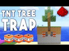 TNT TREE TRAP - Minecraft Redstone Tutorial - YouTube
