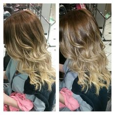 Left no flash, right flash on. #ombrehair #ombre