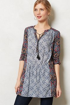 Humboldt Tunic #anthropologie - OOOO, my skinny niece pinned this.  I think a chunky monkey like me could wear this too.  Love it (can't wear it around the skinny minis, though).