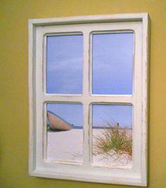 Rustic Window Beach Scene #bestofEtsy #etsy #handmade #design #etsymntt  #etsyretwt